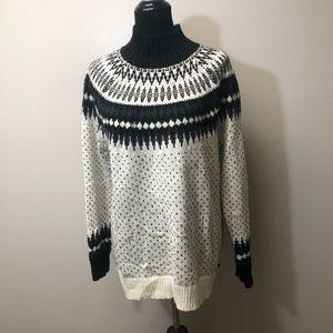NWT Eddie Bauer Nordic Fair Isle Sweater